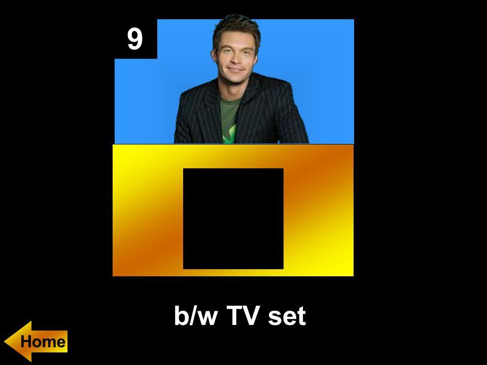 9 b/w TV set