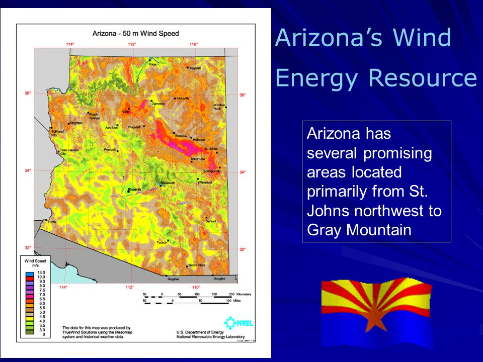 Arizona has several promising areas located primarily from St.
