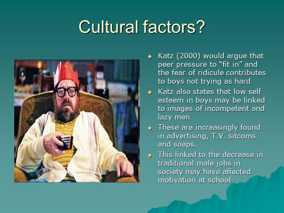 Cultural factors.