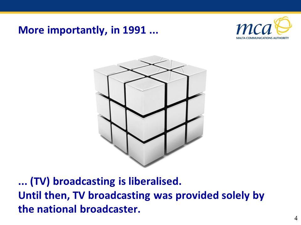Liberalisation led the path towards general interest TV programming.