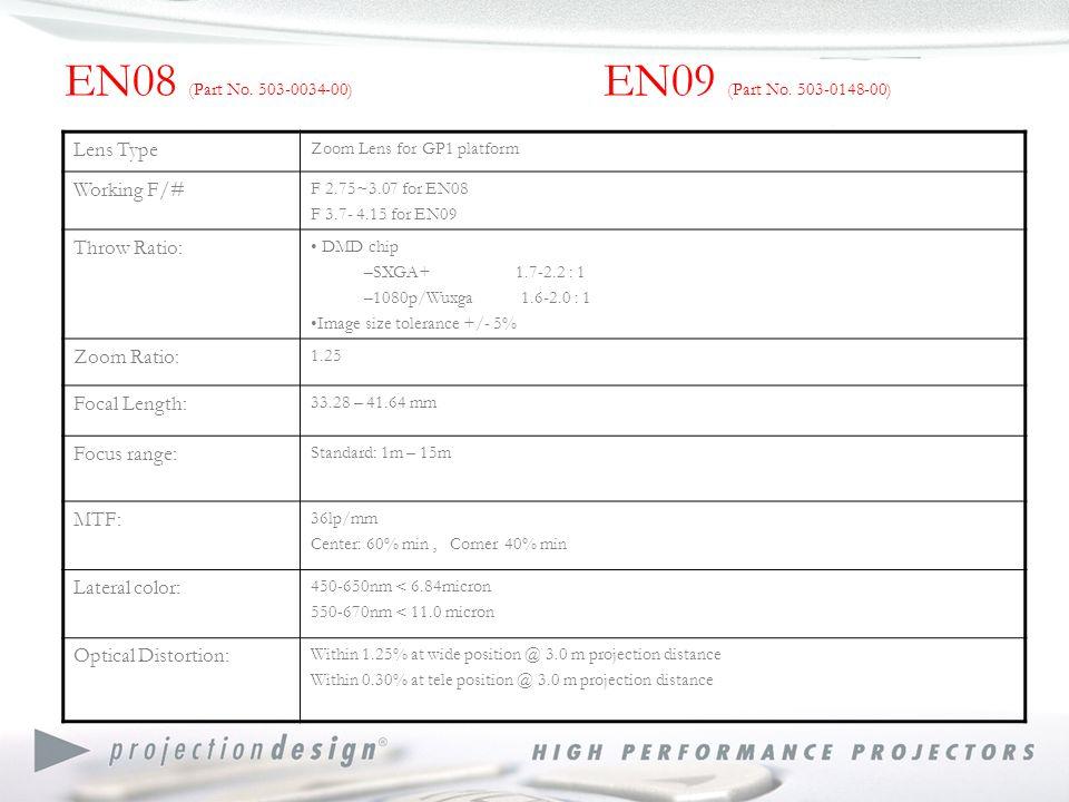 EN08 (Part No. 503-0034-00) EN09 (Part No.