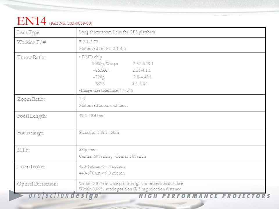 EN17 ( Part No.503-0106-00) and EN27 (F3.5) (Part No.