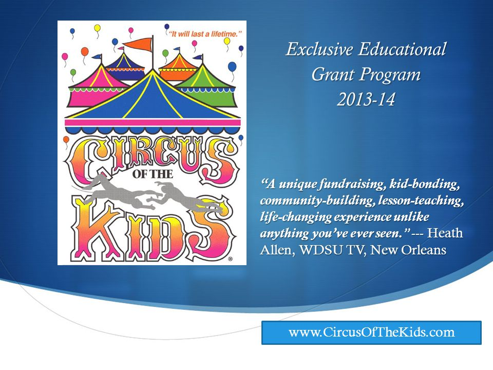 © Circus of the Kids- 2013 Q : What about insurance.
