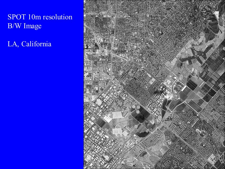 SPOT 10m resolution B/W Image LA, California