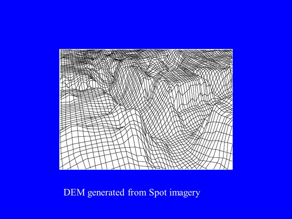 DEM generated from Spot imagery