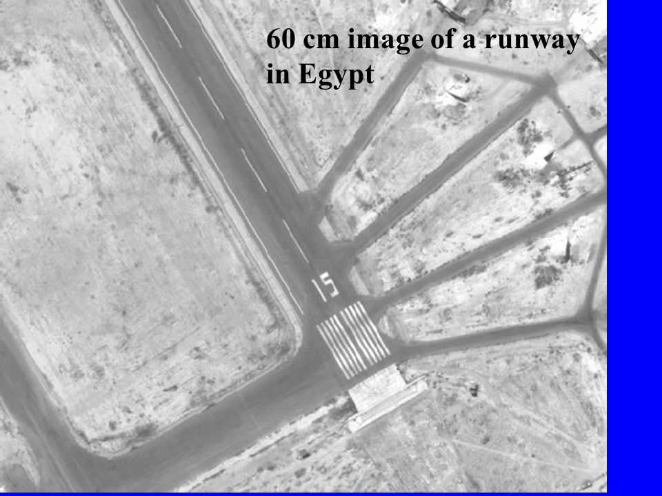 60 cm image of a runway in Egypt