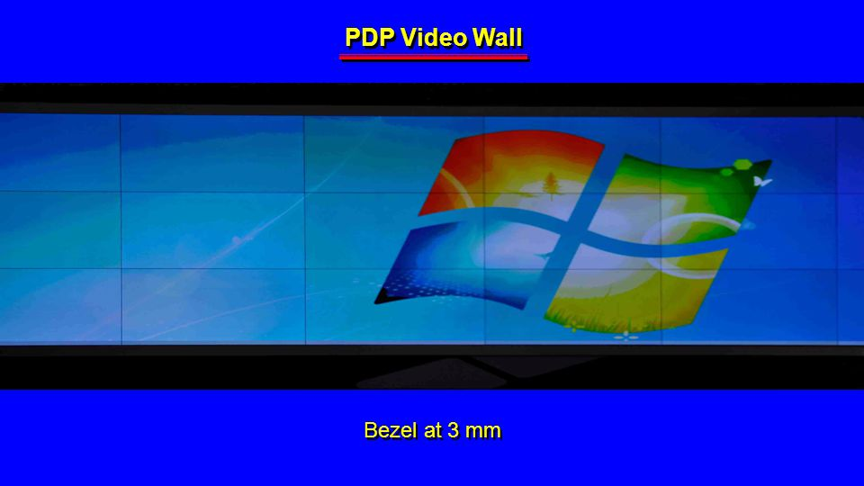 PDP Video Wall Bezel at 3 mm