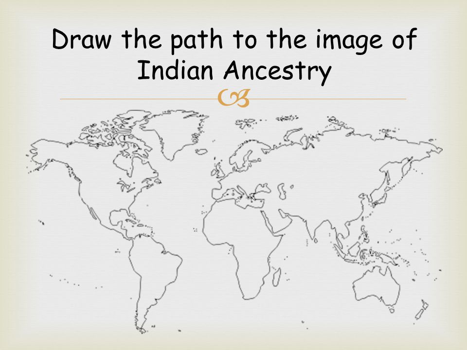 Draw the path to the image of Indian Ancestry