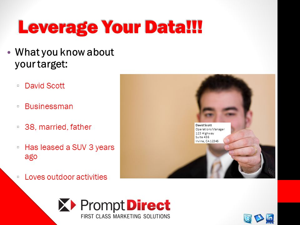 Leverage Your Data!!.