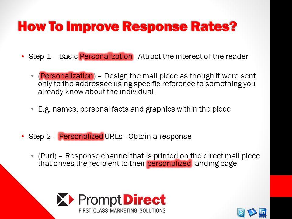 How To Improve Response Rates?