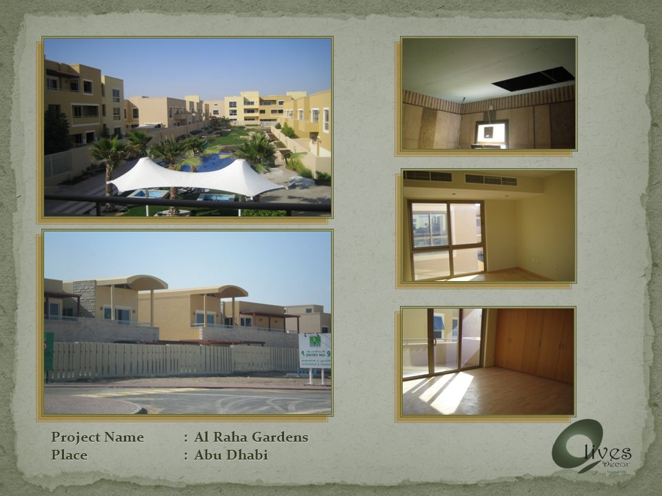 Project Name: Al Raha Gardens Place: Abu Dhabi