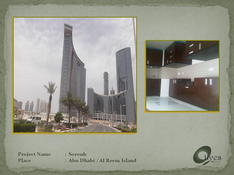 Project Name: Sorouh Place: Abu Dhabi / Al Reem Island