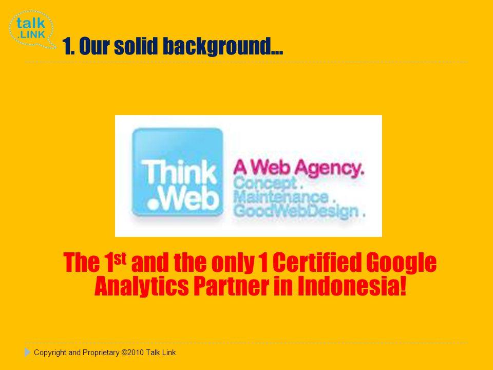 Copyright and Proprietary ©2010 Talk Link Sunlife Financial: Shariah Media Placement & Radio Talkshow December 2010 4 prints & 2 radio National, Jakarta & Jogjakarta