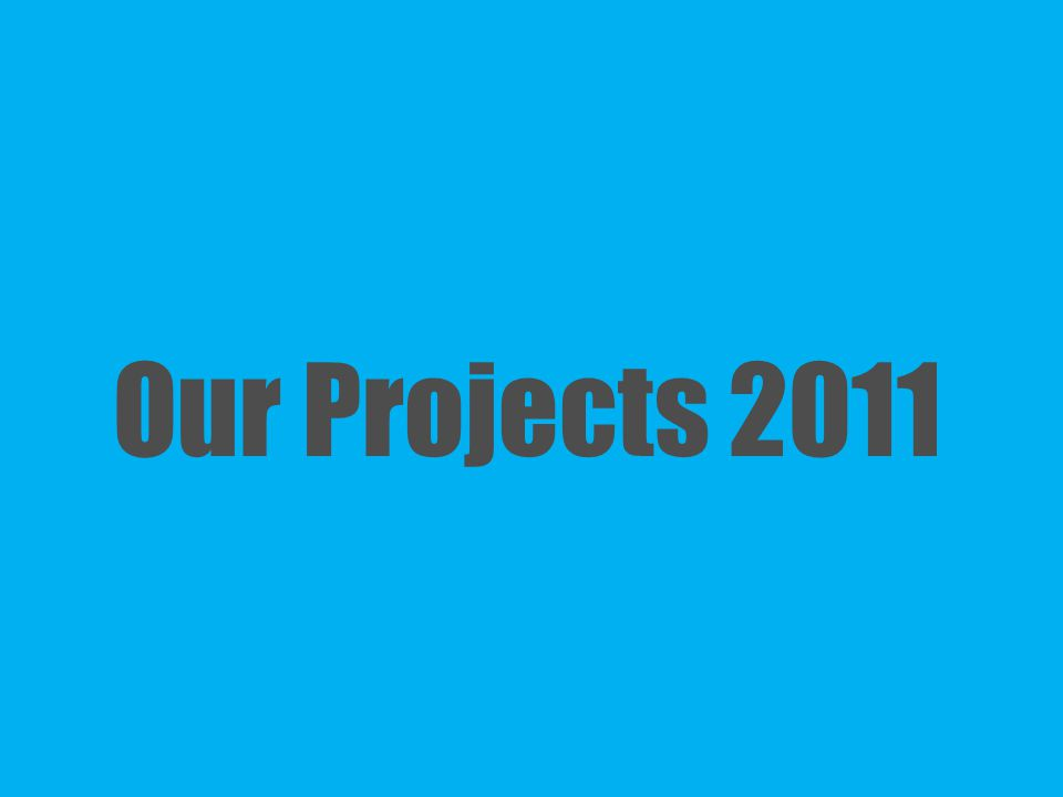Our Projects 2011