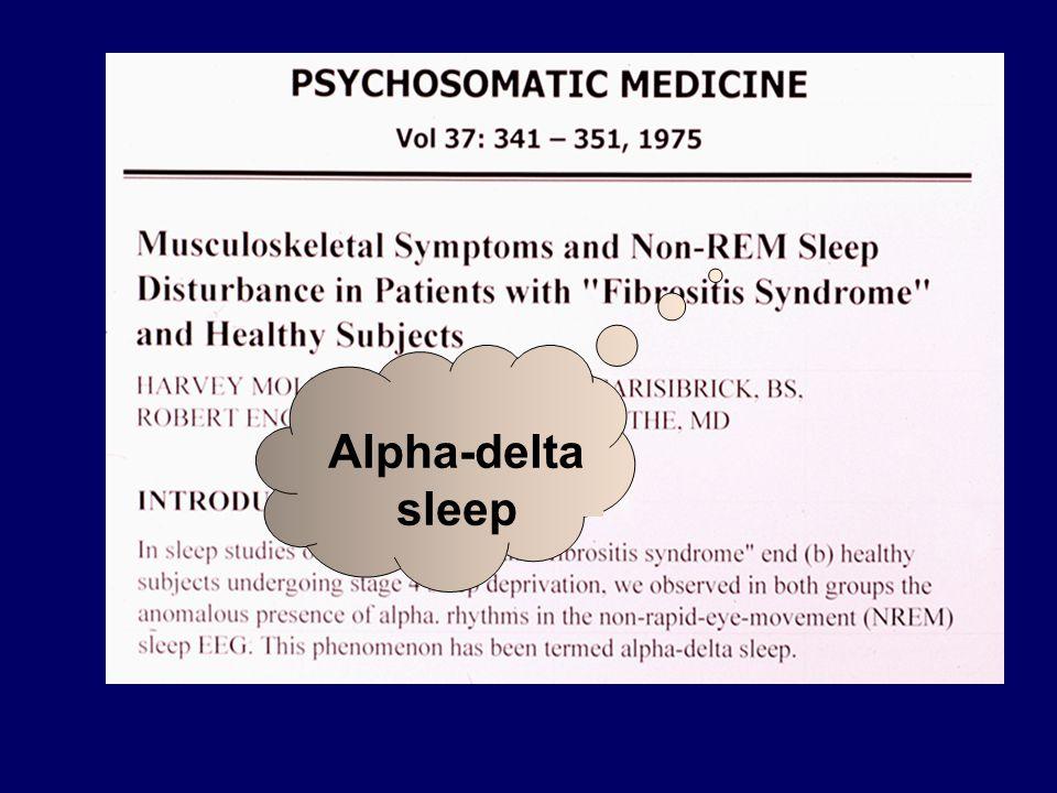 Alpha-delta sleep