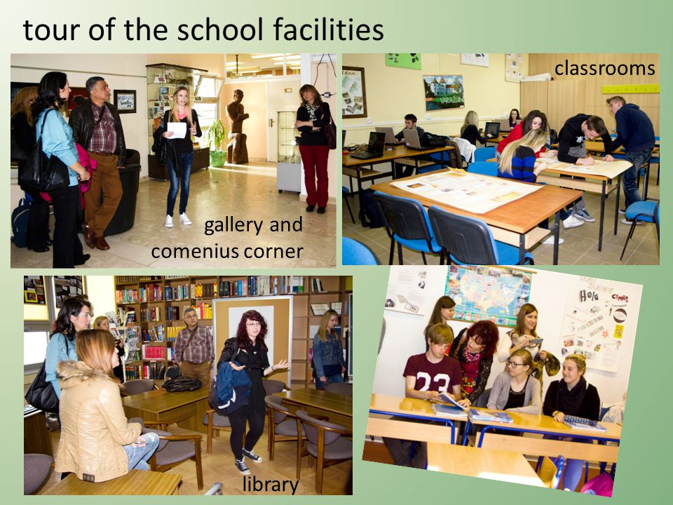 tour of the school facilities library gallery and comenius corner classrooms
