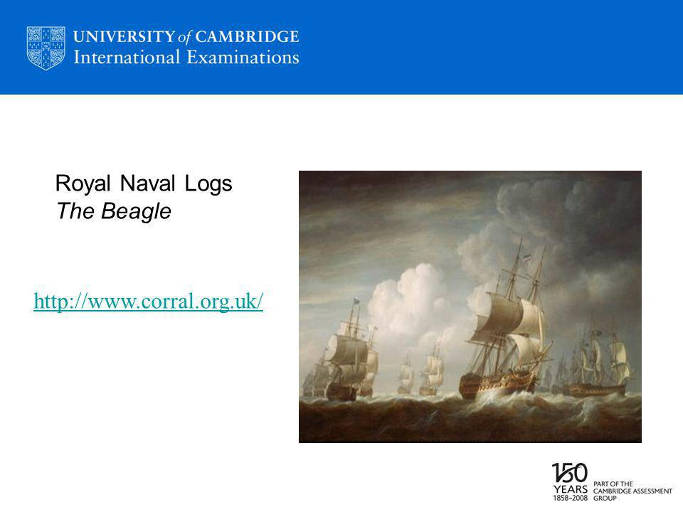http://www.corral.org.uk/ Royal Naval Logs The Beagle