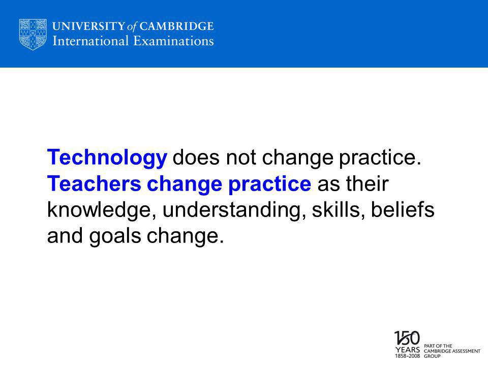 Technology does not change practice.
