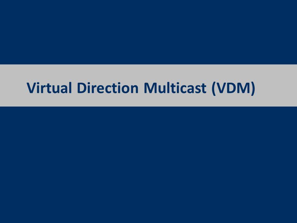 Virtual Direction Multicast (VDM)