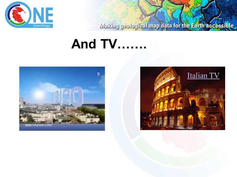 And TV……. Italian TV