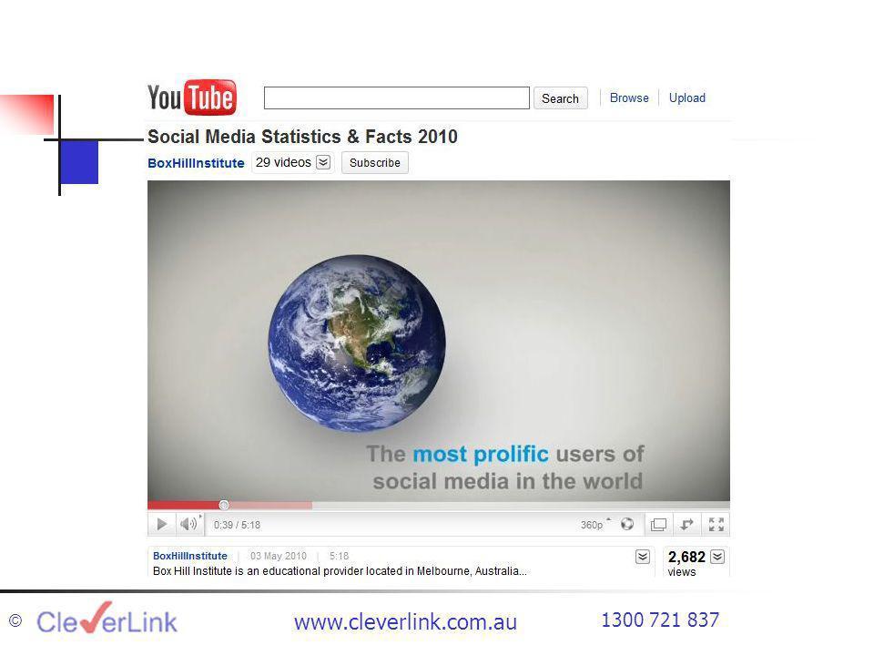 1300 721 837 www.cleverlink.com.au ©