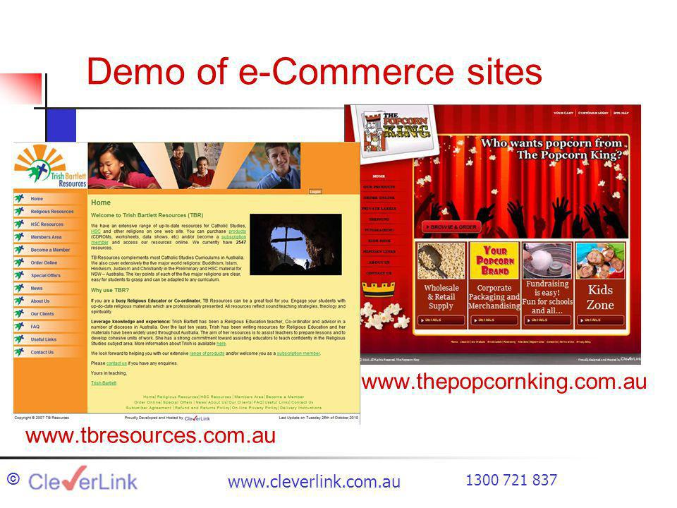 Demo of e-Commerce sites ©