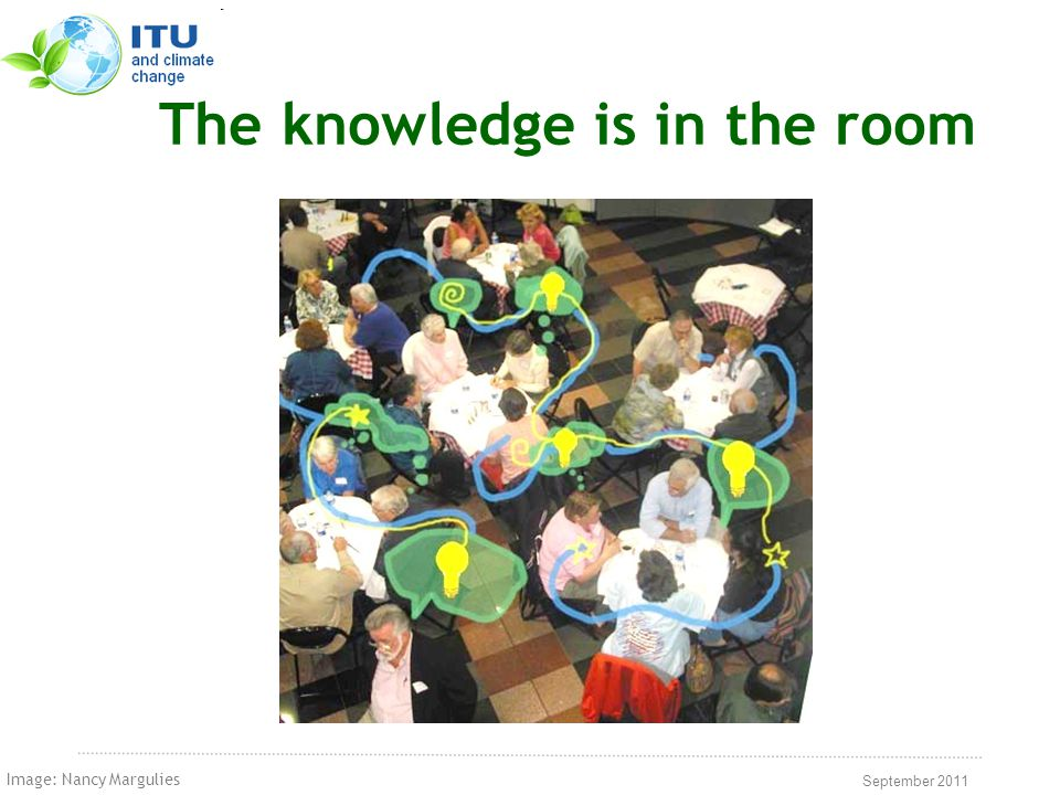 September 2011 The knowledge is in the room Image: Nancy Margulies