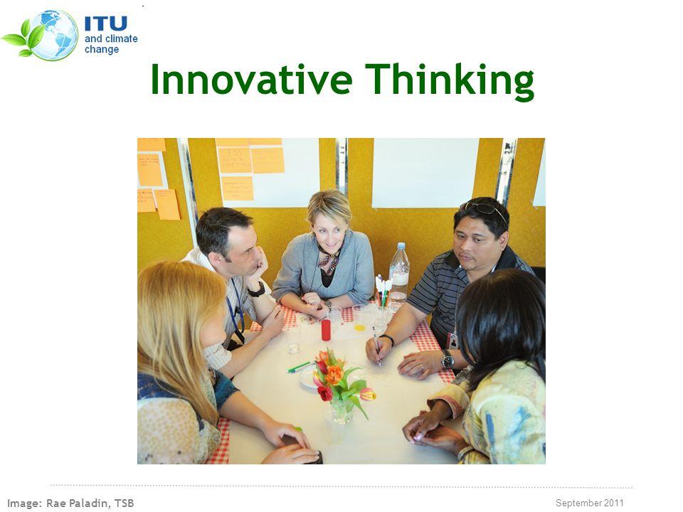 September 2011 Innovative Thinking Image: Rae Paladin, TSB