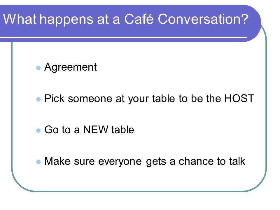 What happens at a Café Conversation.