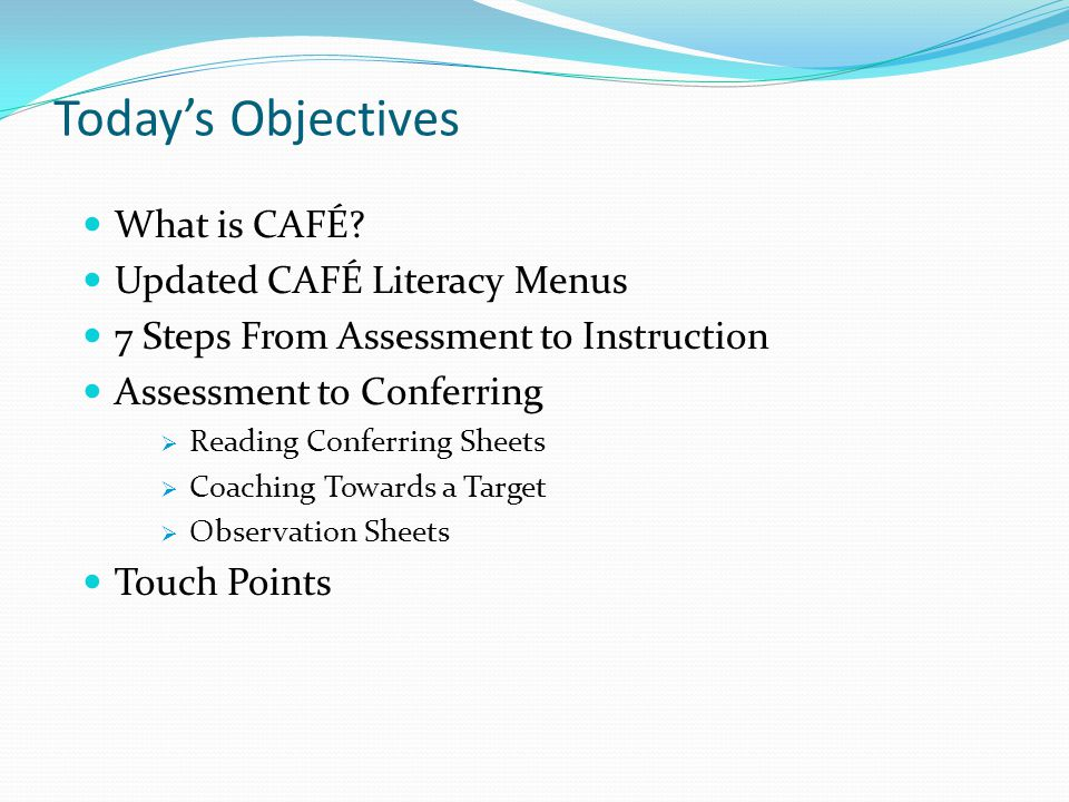 Todays Objectives Cont.
