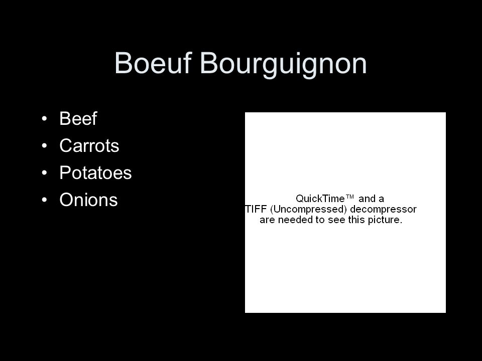 Boeuf Bourguignon Beef Carrots Potatoes Onions