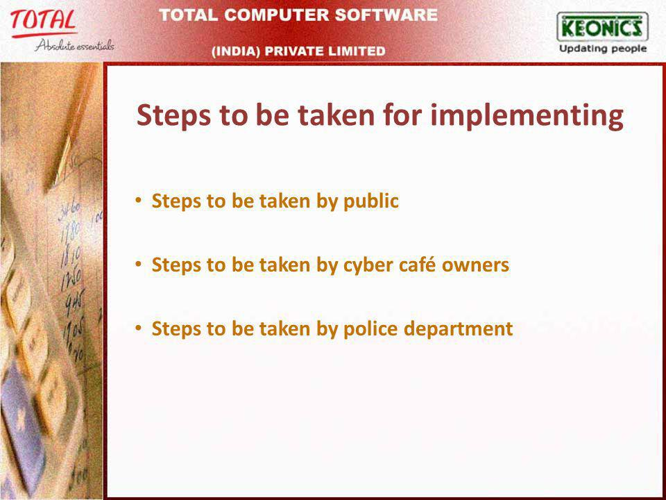 Report Search option given to the cyber café owners to get the list of people visited on a particular date