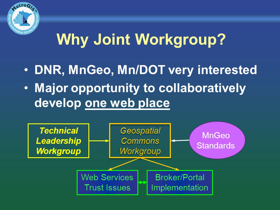 Why Joint Workgroup.