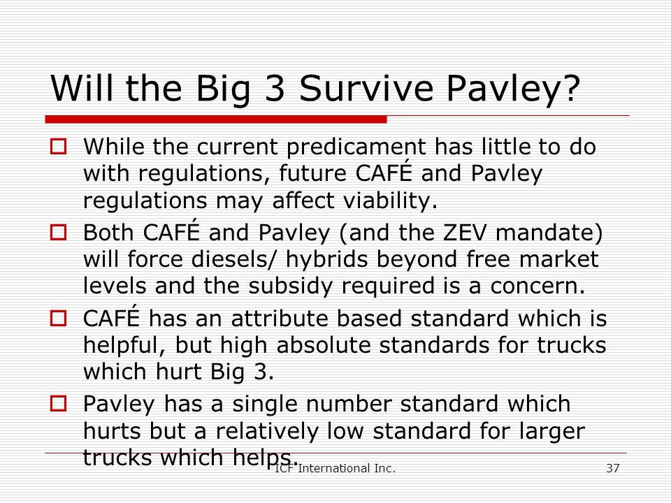 ICF International Inc.37 Will the Big 3 Survive Pavley.