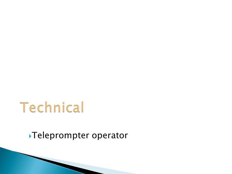 Teleprompter operator