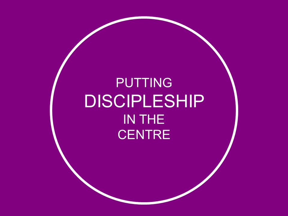 PUTTING DISCIPLESHIP IN THE CENTRE