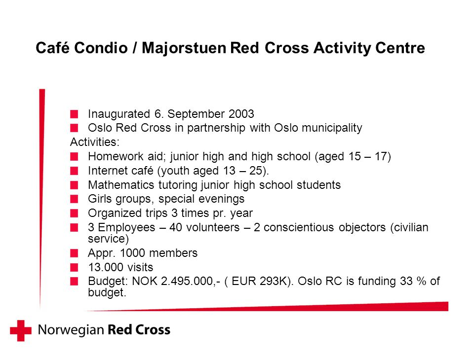 Café Condio / Majorstuen Red Cross Activity Centre Inaugurated 6.