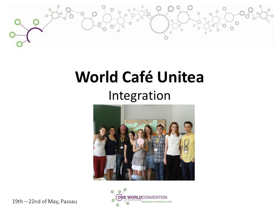 19th – 22nd of May, Passau World Café Unitea Integration
