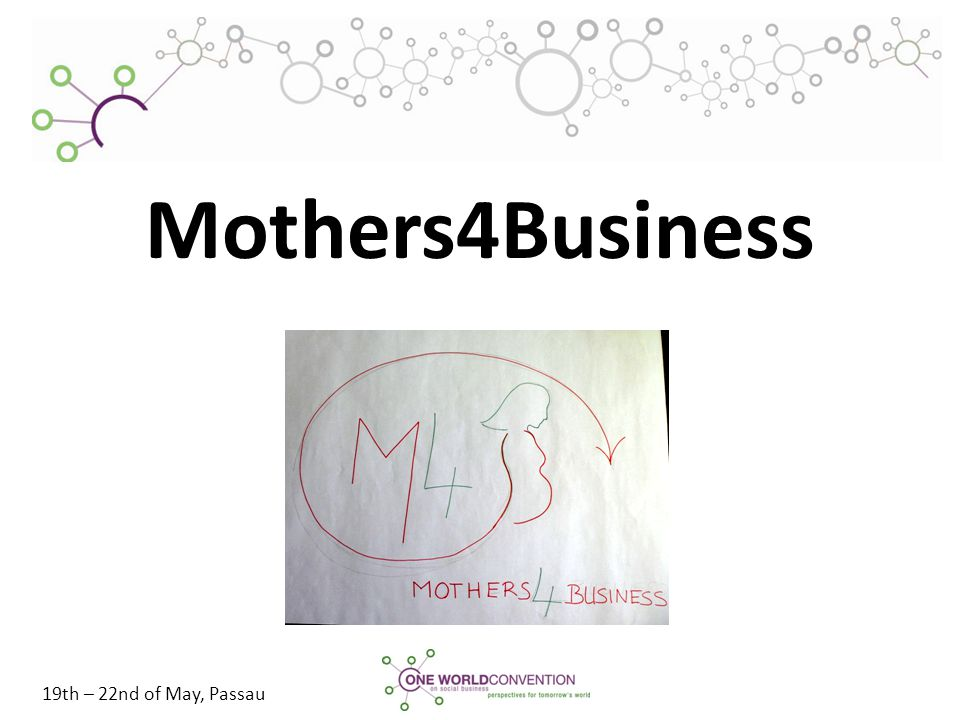 19th – 22nd of May, Passau Mothers4Business