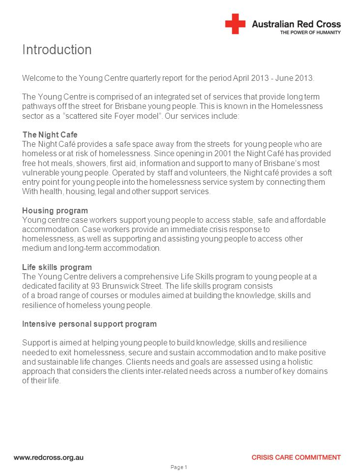 Introduction Welcome to the Young Centre quarterly report for the period April 2013 - June 2013.