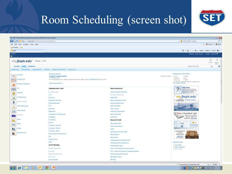 Room Scheduling (screen shot)