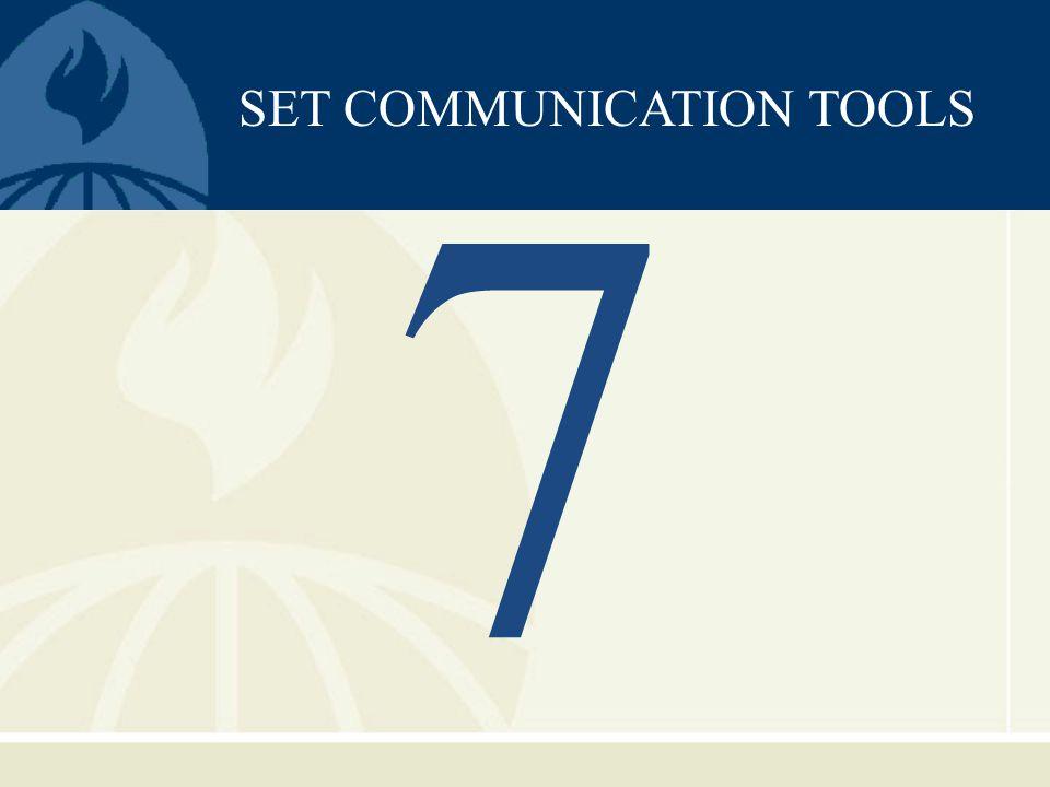 SET COMMUNICATION TOOLS 7
