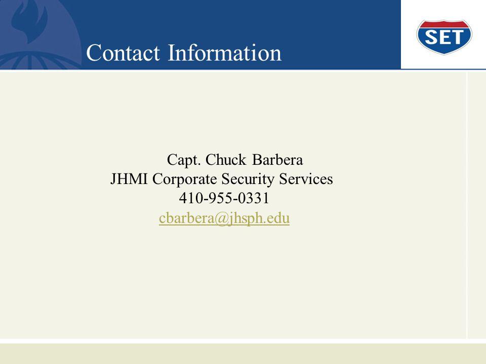 Contact Information Capt.