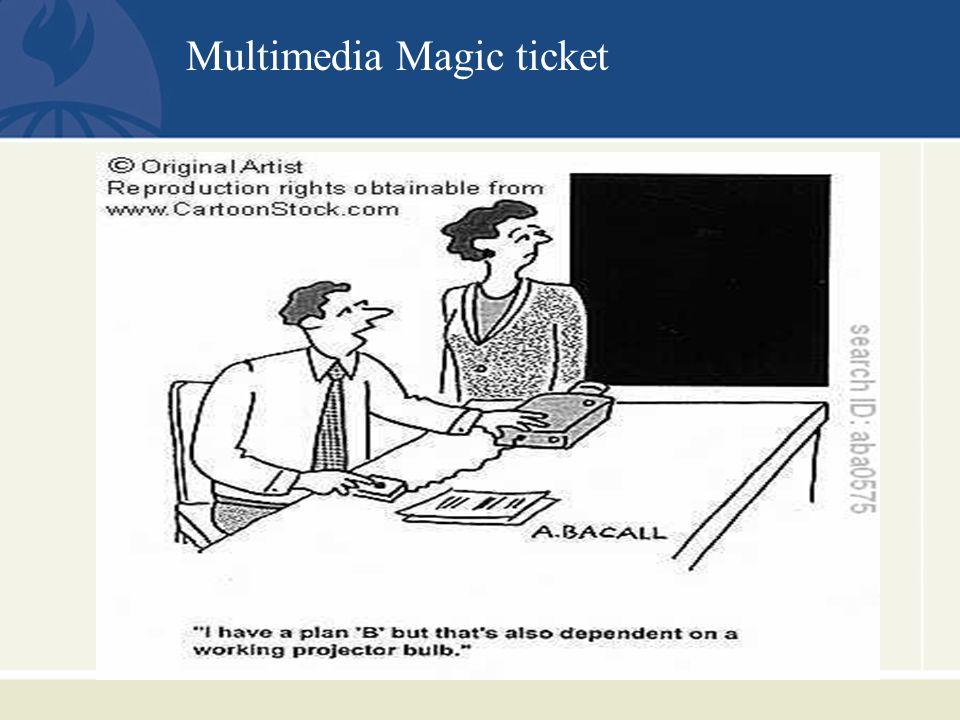 Multimedia Magic ticket