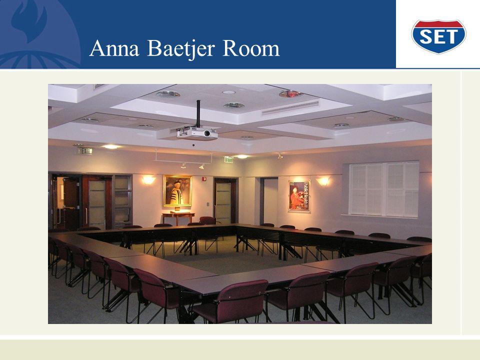 Anna Baetjer Room