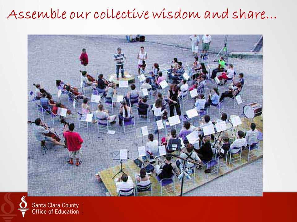 Assemble our collective wisdom and share…