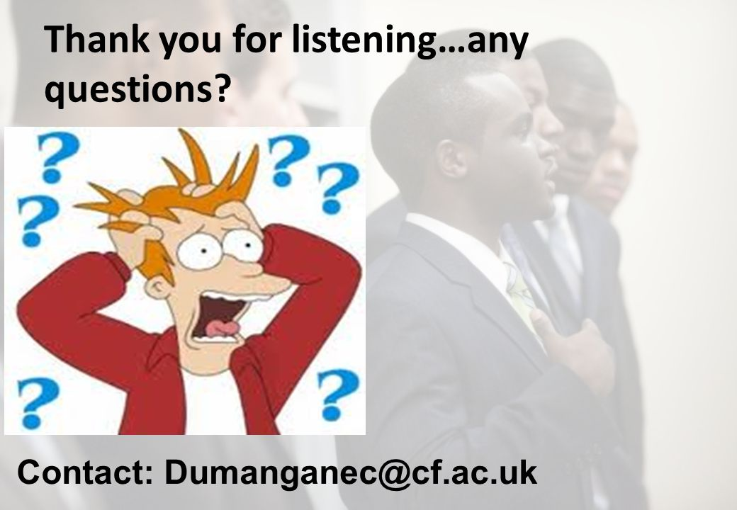 Thank you for listening…any questions Contact: