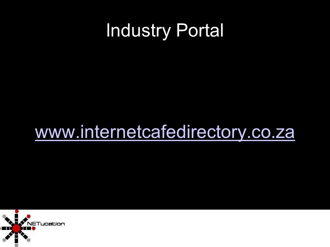 9 Industry Portal www.internetcafedirectory.co.za