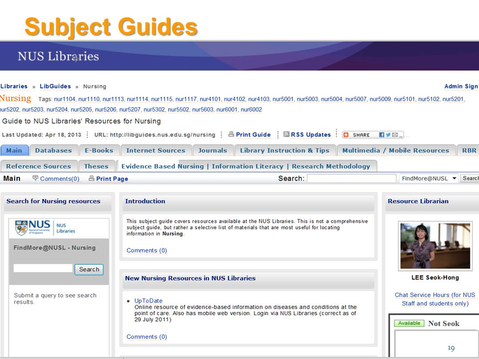 Subject Guides 19