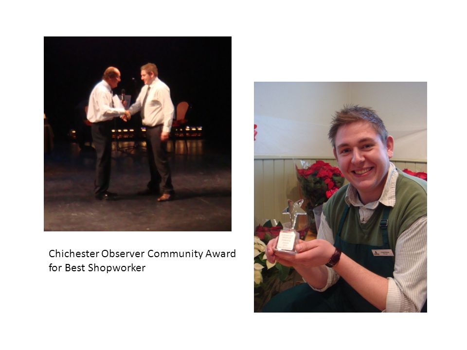 Chichester Observer Community Award for Best Shopworker
